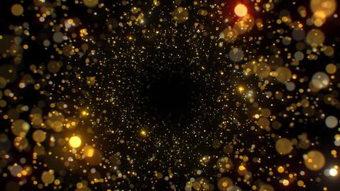 Beautiful Shining Glittering Bokeh Golden Particles Abstract Motion Background Acción en vivo