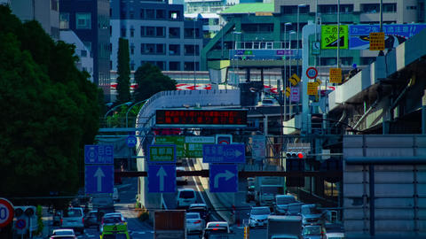A timelapse of downtown street at Sotobori avenue in Tokyo daytime long shot Live Action