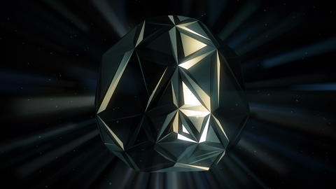 Black Polygons Motion Background Animation