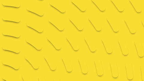 Yellow animated background with yellow rounded caps Live Action