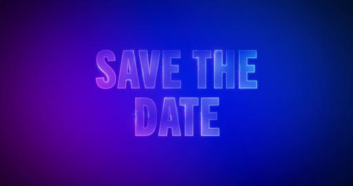 Save the date. Electric lightning words. Logotype Animation