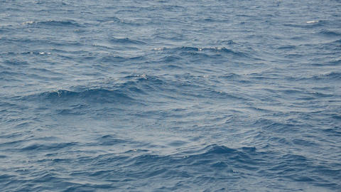 Texture of green-blue sea water in the Aegean sea Live Action