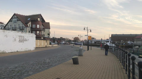 Ustka, Poland, The outside of a building Live Action