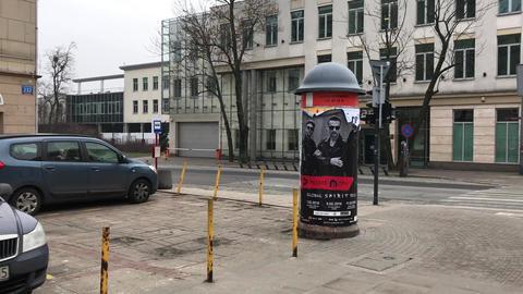 Lodz, Poland, A car parked on a city street Live Action