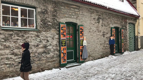 Tallinn, Estonia, A person standing in front of a building Live Action