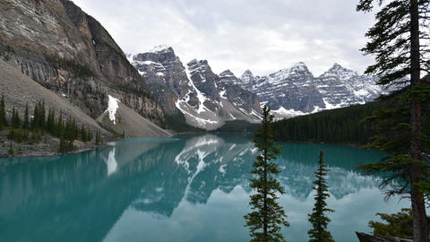 A timelapse movie of Moraine Lake taken on a sunny evening Live Action