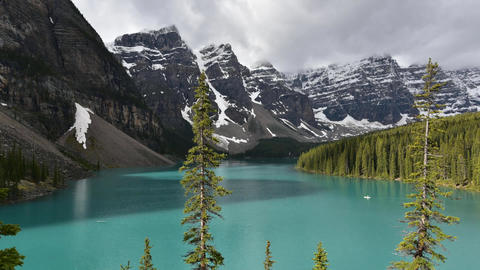 A timelapse movie of Moraine Lake taken on a sunny morning. ripple Live Action