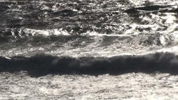 Sunlight reflections on sea waves Footage