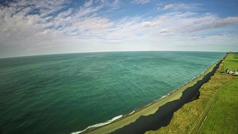 Aerial Ocean of England 4k Footage