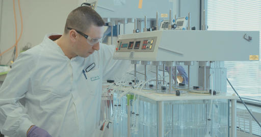 Science Lab and scientists working on pharmaceutical research, medicines Footage