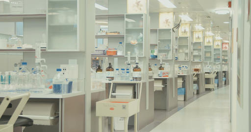 sliding shot of a pharmaceutical laboratory Live Action