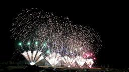 Ebisukou Fireworks Display, Nagano Prefecture, Japan Footage
