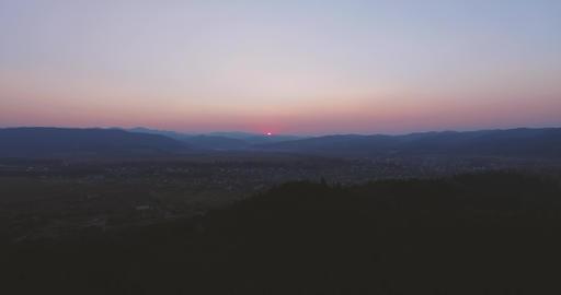 Beautiful Mountines Sunrise Filmmaterial
