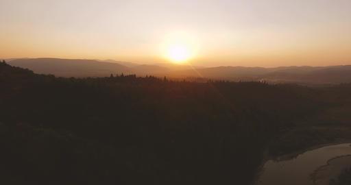 Beautiful Mountines Sunset Footage