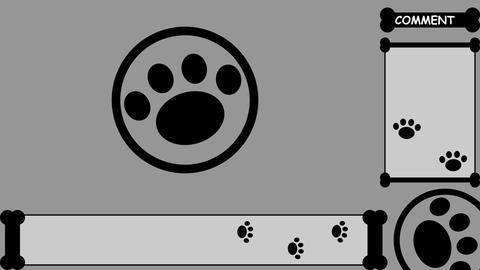 LIVESTREAM BACKGROUND【PAD(bone) BLACK】7 Color + Alpha Channel Set 2