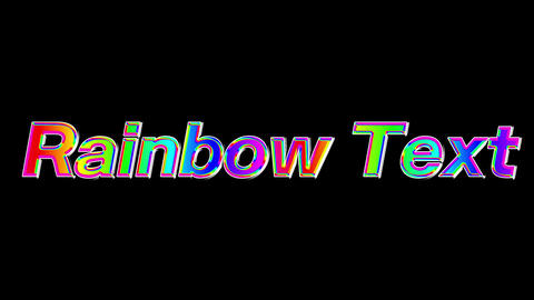 Rainbow text 02 After Effects Animation Preset