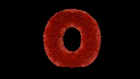 Fluffy hair fur text typography with alpha channel O Animation