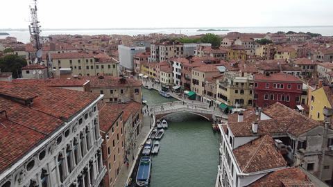 Venice on quarantine - Guglie Bridge and canal Live Action