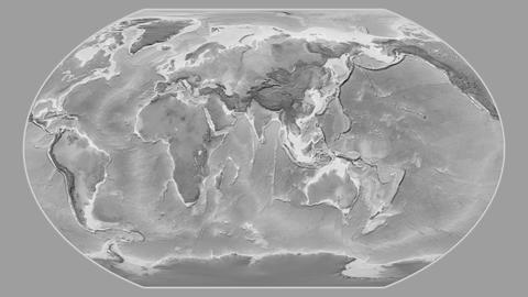 Malaysia - hub of the world. Grayscale Animation