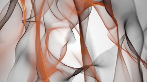 Fantastic video animation with particle wave object in motion, loop HD CG動画
