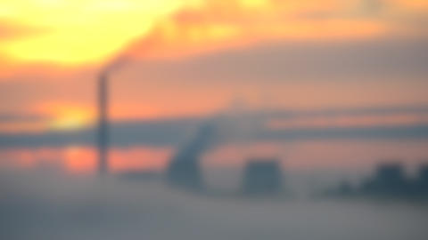 Blurred background. Timelapse Fast Video Plant Thermal Power Plant Working Live Action