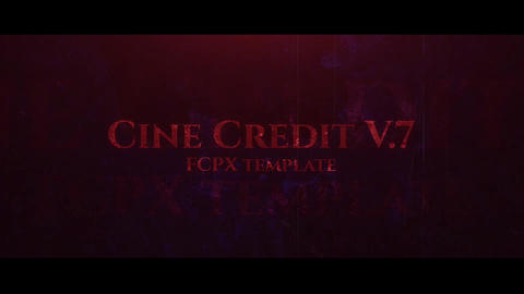 Cine Credit V 7 Apple Motion Template