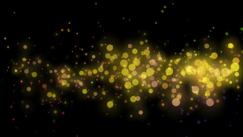Wonderful christmas video animation with moving stars and lights and bubbles, loop HD Animation