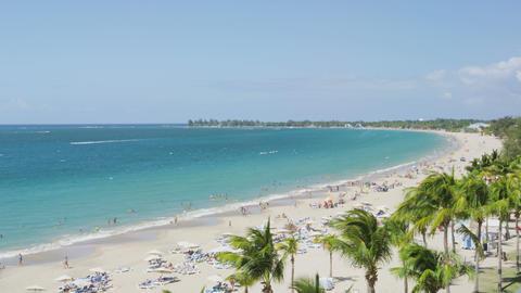 Isla Verde Beach in Puerto Rico - Tourist Vacation Travel Destination Live Action