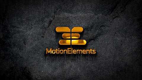 Cinematic 3D Golden Logo After Effects Template