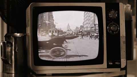 A Trip Down Market Street, in San Francisco, On a Retro TV Live Action