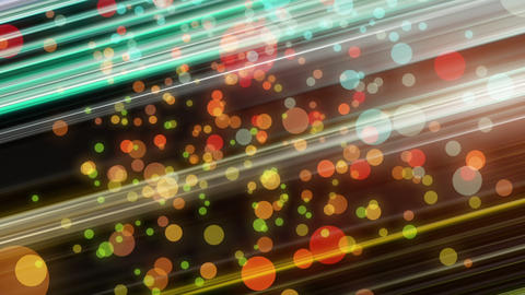 Futuristic video animation with light particles and background in motion, loop HD Animation