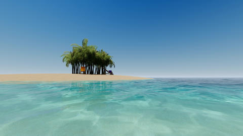 Tropical island. Summer vacation. Sea landscape.Beautiful tropical beach banner Live Action