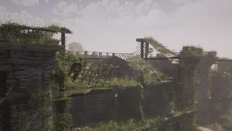 post apocalypse ruined city destroyed city Animation