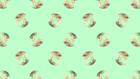 岩肌模様のボールが並ぶ背景 After Effectsテンプレート