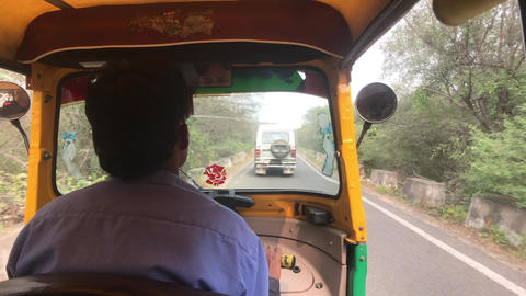 Jaipur, India - Moto rickshaw movement part 3 Live Action
