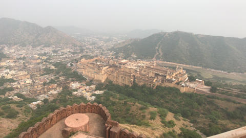 Jaipur, India - View of the fortress from afar part 5 Live Action