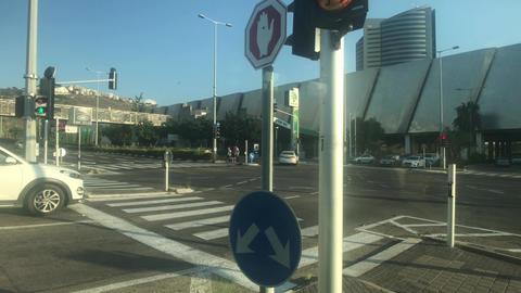 Haifa, Israel - city bus traffic at speed part 11 Live Action