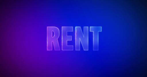 Rent. Electric lightning words. Logotype Videos animados