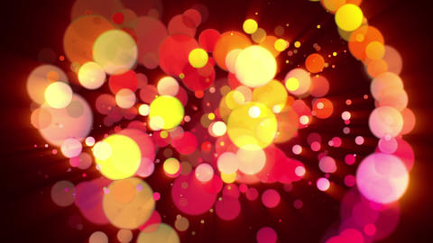 Wonderful video animation with bubbles and lights in motion, loop HD Animation