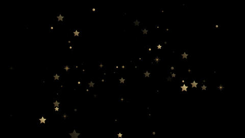 Shining gold stars motion graphics with night background Animation