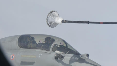 Military Aircraft Mid Air Refueling Live Action