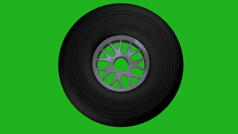 Rotating wheel motion graphics with green screen background Videos animados