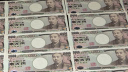 Japanese Yen bills Footage