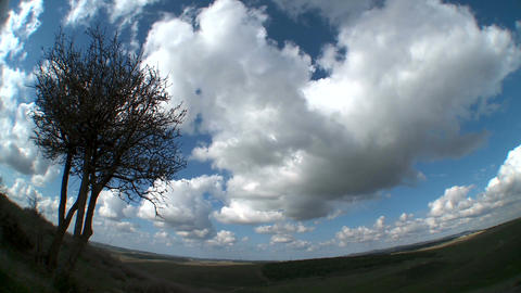 Clouds time lapse over landscape Footage