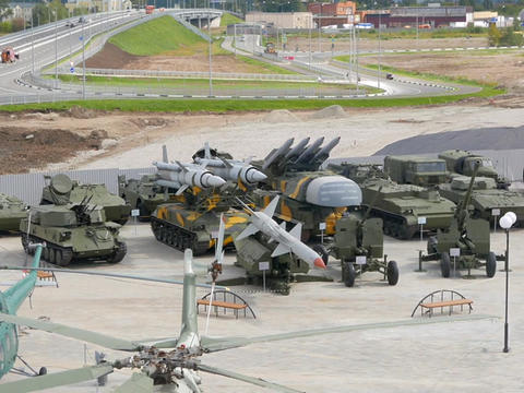 Machinery air defense. Pyshma, Ekaterinburg, Russia Footage