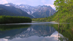Taisho Pond, Nagano Prefecture, Japan Footage