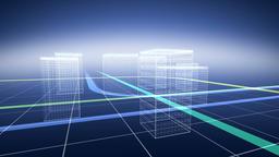 CG illustration of buildings Footage