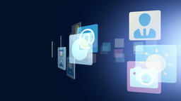 CG illustration of social network Footage