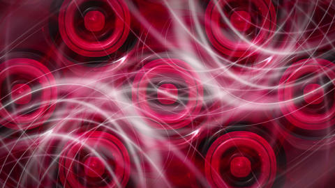 Powerful video animation with moving wave object and background, loop HD Animation