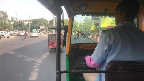 Jaipur, India - November 03, 2019: tourist rides motorricks Live Action